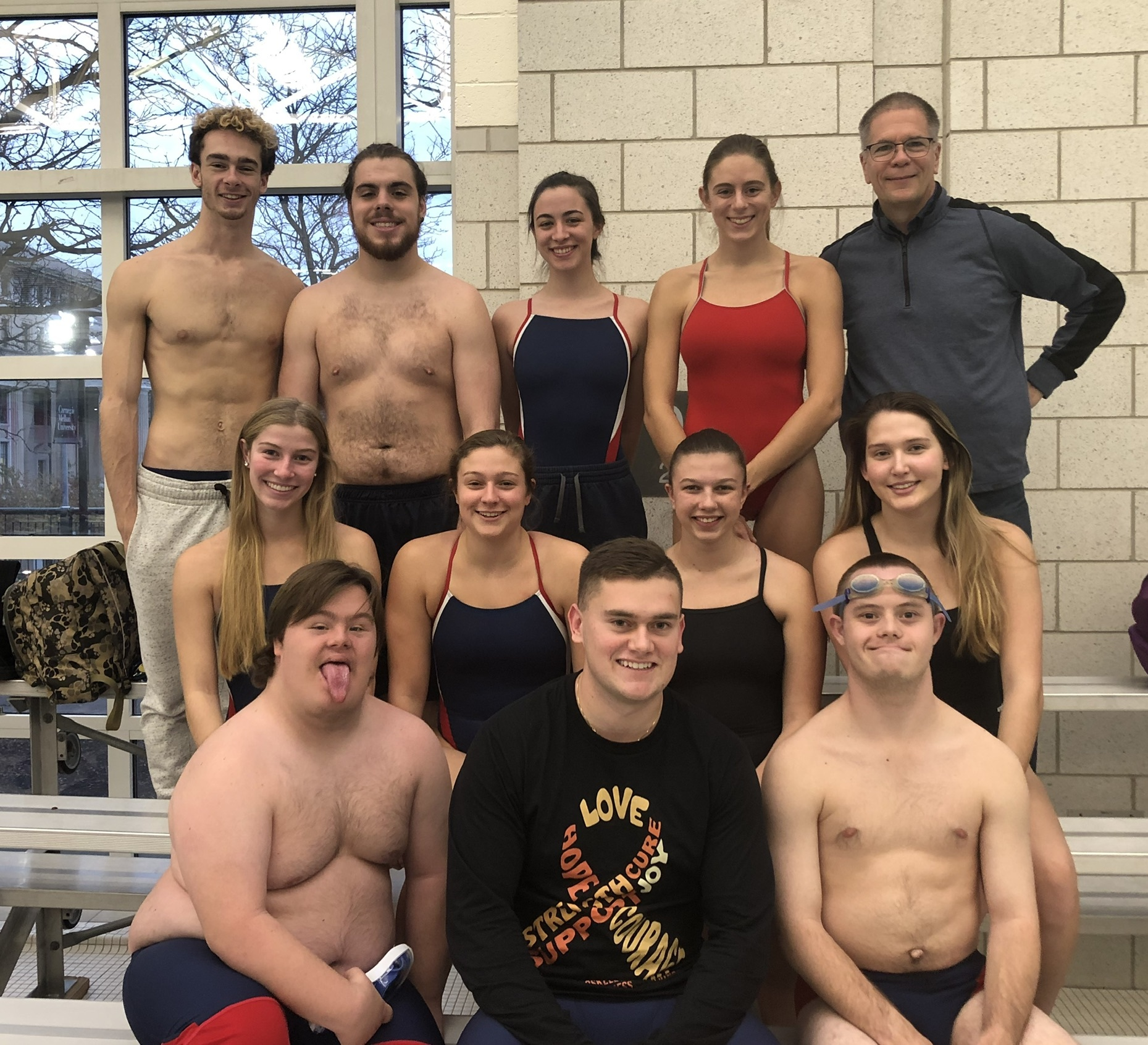 DU swimmers at CMU meet